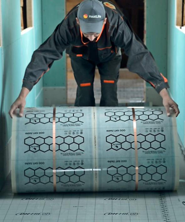 Инфракрасный тёплый пол. Отопительная плёнка ХитЛайф 220/M2 сзаземлением