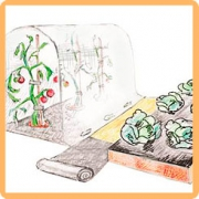 Защитная полоса для междурядий от сорняков.