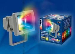 Прожектор светодиодный ULF-S01-10W/RGB IP65 110-240В серый UNIEL