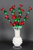 """A-106 LED светодиодный декоративный куст, с насадками """"цветок"""" H-58 см"""
