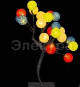 """A-251 светодиодный декоративный куст с насадками """"шарик d-4см"""" Н-37см"""