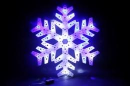 325-C LED BL/WT снежинка D40см