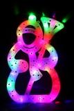326-C LED RD/GN, RD/BL снеговик 42х26см