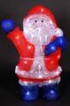 """A-160 LED акриловая фигурка 3D светодиодная """"Дед Мороз"""" Н-36см"""