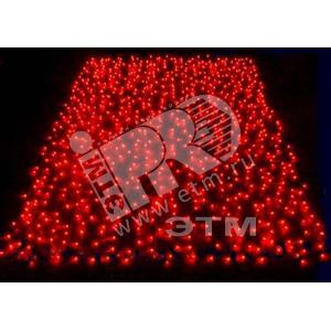 Электрогирлянда Занавес 625LED 2.5х1.5м красная