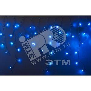 Гирлянда Айсикл (бахрома) светодиодный 2х4х0.6м белый провод 220В синий (255-033-6)