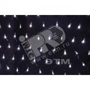 Гирлянда-сеть светодиодная 2 х 1.5м свечение с динамикой черный провод белый (215-021)