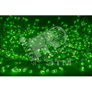 Гирлянда мишура LED 6м 576LED зеленый (303-614)