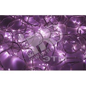 Гирлянда Дюраплей LED 20м 200LED белый каучук розовая (315-147)