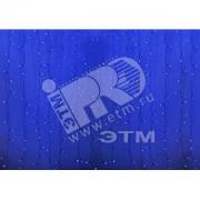 Гирлянда Светодиодный Дождь 2х3м постоянное свечение прозрачный провод 220В синий (235-153)