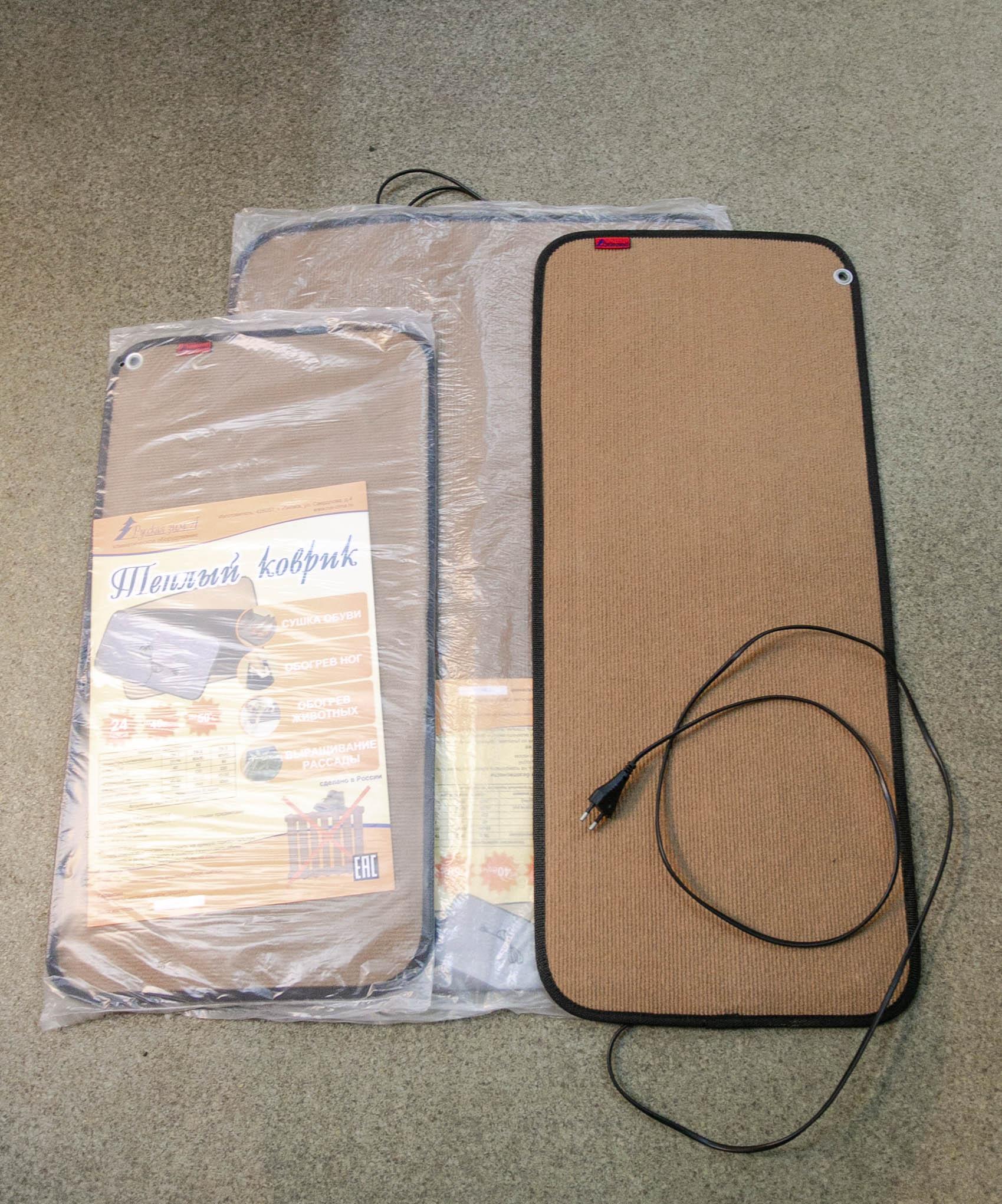 Коврик с подогревом 80х35 см. 60 Вт. ТК-2 коричневый