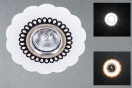 00076-9.0-001RD MR16+LED WT светильник точ.