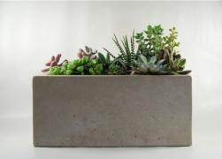 Горшок из бетона (уличный)